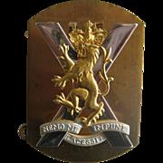 Scottish Military Badge - Nemo Me Impune Lacessit