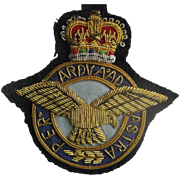 Vintage Royal Air Force (RAF) Bullion Badge