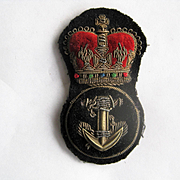 Vintage Royal Naval Bullion Badge with Crown