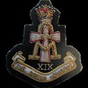 "Vintage ""The Green Howards"" X1X (Yorkshire) Bullion Badge"