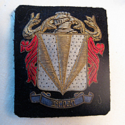 Wonderful Vintage Gold Thread Badge