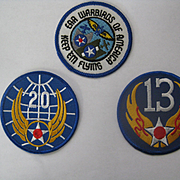 Set of Three Pieces (3) American Military Patches