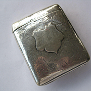 "Beautiful 1904 Elkington Hallmarked Silver Cigarette Case ""H R C"""