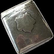 "Beautiful 1904 Elkington Hallmarked Silver Cigarette Case ""H R C"""