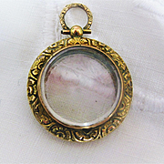 Beautiful Vintage 9ct Rose Gold/Glass Portrait Locket