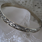 Vintage DANECRAFT Silver Bangle