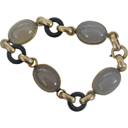 Early 1900s Gold Billed Bracelet with Agates