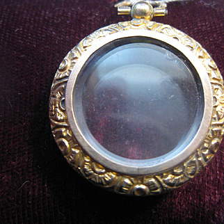 Early 1900s English 9ct Gold/Glass Portrait Locket -Modified listing