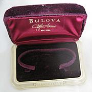 Vintage Bulova Watch Display Case