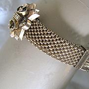 Victorian Mesh Slider Bracelet - Gold Fill