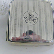 "English 1903 Chester Hallmarked Silver Cigarette Case ""A.A."" Initials"