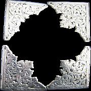 4 London Hallmarked Corner Pieces 1877 -  Victorian