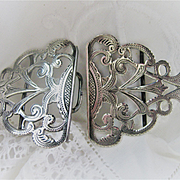 Stunning English c1901 (Birmingham) Silver Belt Buckle