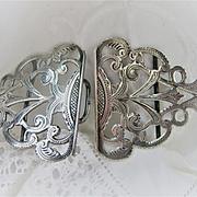 Stunning English c1901 (Birmingham) Silver Belt Buckle