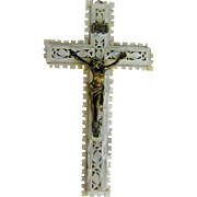Very Old Mother-of-Pearl Crucifix