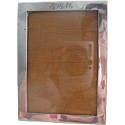 c1927 English Hallmarked Silver Picture Frame Initials E.A.M.