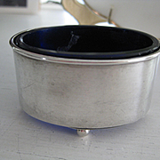 Hallmarked Silver English Salt with Original Glass Liner c1907