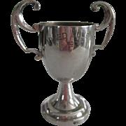 Pretty Vintage Silverplate Tennis Award 1937