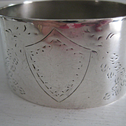 Pretty Vintage Sterling Napkin Holder, Daniel and Arter Silversmith.