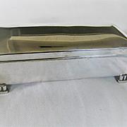 Vintage Double Size Poole Silver Cigarette Box
