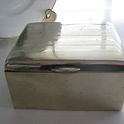 Vintage Nickel Silver Cigarette Box