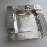 Vintage Scottish Silver Plated Ashtray with Thistle