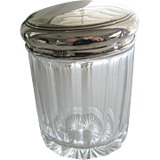 Vintage English Hallmarked Silver Vanity Jar B'ham c1923