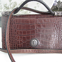 Small Brighton Leather Cross-over Bag