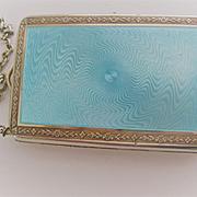 Beautiful Vintage 800 Silver/Diamonds Compact/Money Holder/Memoire w/Pencil