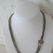 Antique Silver Two-strand Chain 14 1/4 inches long