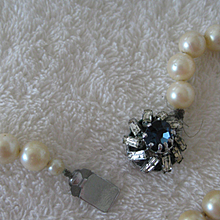 15 Inch Vintage Simulated Pearl Necklace w/Wonderful Clasp