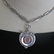 Elegant English Hallmarked Silver Medal/Deco Chain