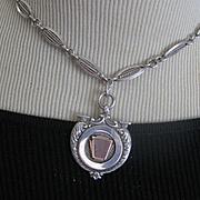 Elegant English Hallmarked Silver Medal/Deco Chain