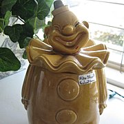 1930s Clown Ceramic Cookie Jar