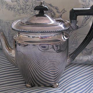 Vintage English Elkington Silver Plate Coffee Pot