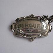 Wonderful Vintage BURGUNDY Silver Plate Decanter Collar
