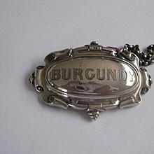 Vintage BURGUNDY Silver Plate Decanter Collar