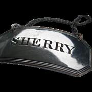 Elegant Vintage S Plate SHERRY Decanter Label