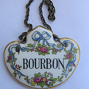 Single Vintage Decanter Label BOURBON - English China