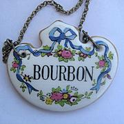 Single Vintage Decanter Label BOURBON - English China