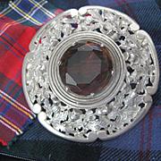 HUGE Vintage Scottish Miracle Plaidie Brooch