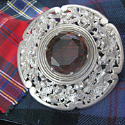 HUGE Vintage Scottish Miracle Plaidie Brooch