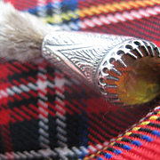 Traditional Scottish Antique Grouse Claw w/Citrine