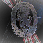 Early 1900s Freemantle Caledonia  Soc. Scottish Brooch