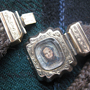 "Victorian Mourning Hair Bracelet...AS IS. ""A.B.P.""Initials"