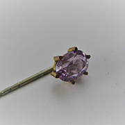 Vintage 2 1/2 ins Stick Pin w/Amethyst