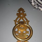 """Antique Brass Door Handle/Knocker 12"""" Long"""