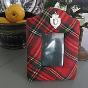 Scottish Tartan Picture Frame with 1922 Hallmarked Silver award