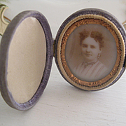 C1800s Miniature Traveling Photo Frame