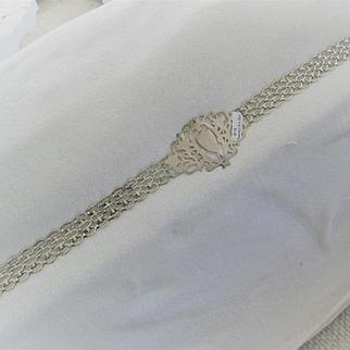 """Early 1900s Plated Nickel Silver Fancy Belt marked """"EPNS"""""""